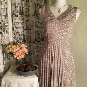 Banana Republic Factory Pleated A- Line Dress